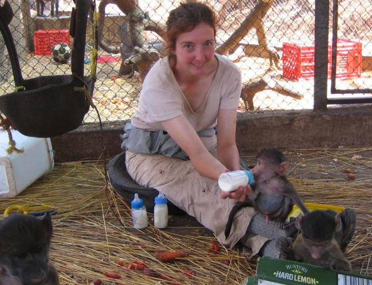 Jane Stanfield at C.A.R.E.Baboon Rehabilitation and Sanctuary, South Africa